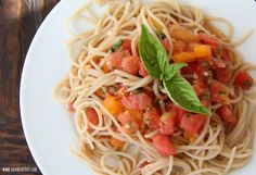 Raw Heirloom Tomato Pasta Sauce