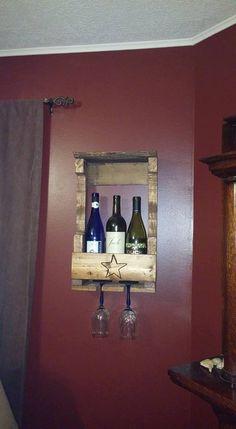 Wine Rack, handmade, upcycled refurbished wood, 3 bottle capacity, Wine Lover gift, Home & Living PalletiumWoodWorks by PalletiumWoodworks on Etsy
