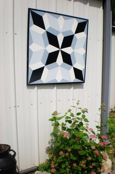 4' x 4' wooden geometric barn quilt $150, contact for more designs and colors :) indoor/outdoor