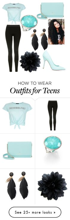 """selfie"" by newilliams-i on Polyvore featuring New Look, Topshop, ShoeDazzle, Kate Spade and Ippolita"