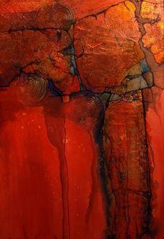 Abstract Painters, Abstract Landscape Painting, Landscape Art, Southwest Art, Encaustic Art, Contemporary Abstract Art, Assemblage Art, Diy Canvas Art, Outdoor Art