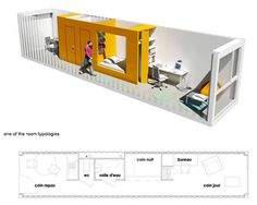 Container House - Shipping container for student housing. Olgga Architects - Who Else Wants Simple Step-By-Step Plans To Design And Build A Container Home From Scratch? Container Home Designs, Shipping Container Design, Shipping Container Buildings, Shipping Containers, Student Room, Student House, Building A Container Home, Container House Plans, Container Houses