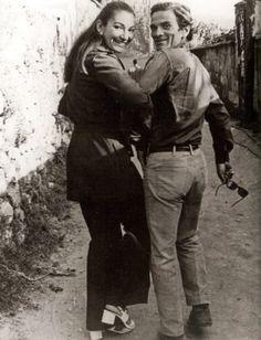 Pier Paolo Pasolini and Maria Callas, Naples, Italy, 1970