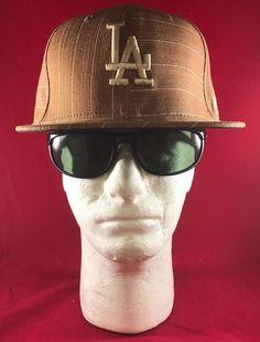 845054792b627 New Era 59Fifty MLB Fitted Light Brwn Tan LA FrntLA Los Angeles Dodgers  Flat Hat
