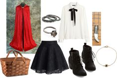 """""""Little Red Riding Hood"""" by brittnicolev12 ❤ liked on Polyvore"""