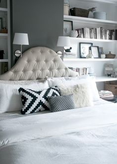 DIY Linen Tufted Headboard - Earnest Home co.