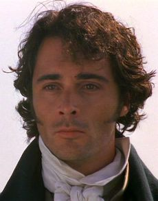 Willoughby at the moment he sees Marianne emerging from the church where she married Colonel Brandon. He realizes how much he has lost. Sense and Sensibility, 1996