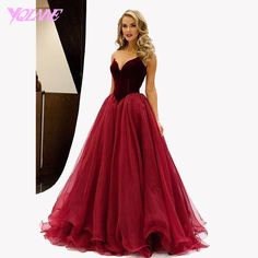 Find More Prom Dresses Information about Classic Wine Red Velour Long Prom…