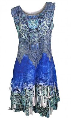Marley Rhinestone Dress In Blue
