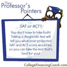 SAT or ACT: It Can Save You Money!