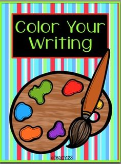 FREE - Color Your Writing - interactive journal printables