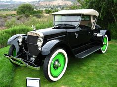 1923 Wills St. Claire Roadster - The Wills St. Claire was built in Marysville, Michigan from 1921-1927. H.C. Wills was a perfectionist who had worked w/ Henry Ford in metallurgy. In fact Wills designed the Ford script in blue oval that is used to this day. He developed molybdenum for use in the Wills St. Claire and the car's high quality makes all these cars a full classic recognized by the CCCA. The car is known for its Canadian goose logo which Wills felt was the ultimate traveler of the…