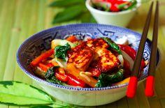 "Garlic Tofu Stir-Fry from ""Body Confidence"" author Mark Macdonald - big flavor, major health benefits — and delicious-looking."
