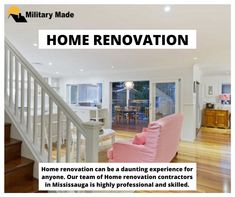 No job is big or small for them. Our skilled and trained team of contractors will work on any given project. We always deliver the best quality results to achieve our client's satisfaction. Call at now. Home Renovation, Stairs, Military, Big, Projects, Home Decor, Log Projects, Stairway, Blue Prints