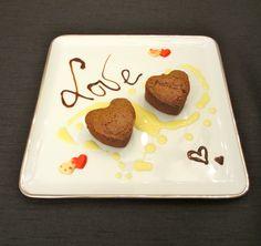 Coeurs fondants au chocolat et crème de marrons