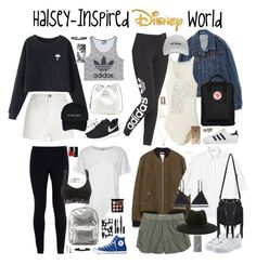 """""""Halsey-Inspired Outfits for Disney World"""" by halseys-clothes ❤ liked on Polyvore featuring River Island, adidas Originals, Chicnova Fashion, NIKE, Sole Society, Earl Jean, Uniqlo, Converse, adidas and Fjällräven"""
