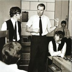 George Martin with the lads