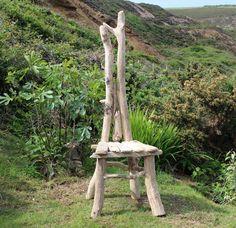 Driftwood Statement Chair,Drift wood Chair, Driftwood Garden Seat,Coastal Garden £325.00