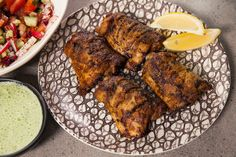 Main tip: a long marinate results in a juicy chicken. Recipe by Anjum Anand. Grilled Chicken Recipes, Healthy Chicken, Pork Recipes, Healthy Grilling Recipes, Barbecue Recipes, Honey Garlic Chicken, Tandoori Chicken, Indian Food Recipes, Ethnic Recipes