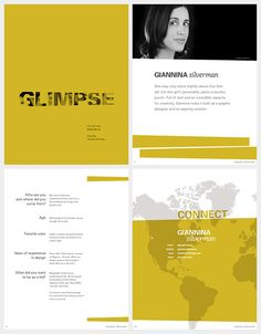 GLIMPSE Volume One, Issue No. 2 // A digital #magazine featuring independent, female graphic #designers who are rocking it.