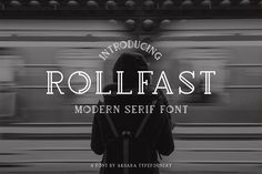 ROLLFAST FONT (MAYDAY SALE 20% OFF) by Aksara Typefoundry on @creativemarket  #Font #Typography #Vintage #Poster #Graphic #Design #Retro #Labels