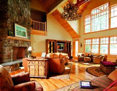 Excellent ideas when dealing with home improvment. home improvement. Home decor. Family Room Decorating, Family Room Design, Home Living Room, Living Room Decor, Family Room Walls, Room Interior Design, Room Pictures, Simple House, Cozy House