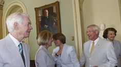 Senate is showing its age .... As gray as it's ever been DRUDGE REPORT 2015®. John Cornyn, Mitch McConnell not pictured