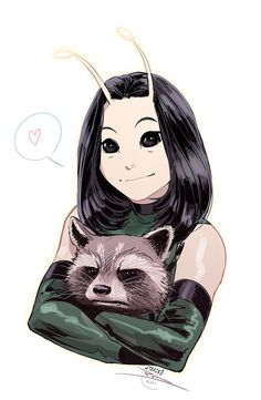 Mantis and Rocket from Guardians of the Galaxy vol2 bu Vashperado