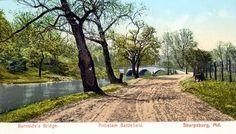 Early 1900′s postcards of Burnside Bridge on Antietam Battlefield
