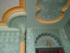 Interior of The Royal Pavilion, Brighton, East Sussex: Prince Regent's Apartments, John Nash - Early Historical Architecture, Interior Architecture, Interior Design, Abandoned Houses, Abandoned Castles, Abandoned Mansions, Abandoned Places, John Nash, Indian Room