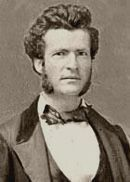 Samuel Clemens (Mark Twain) around age 25 (c. 1859-60), during his years as a riverboat pilot.