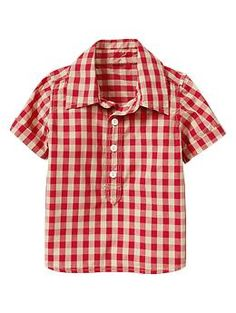 Lived-in wash checkered shirt   Gap. Perfect shirt to match Dad in!
