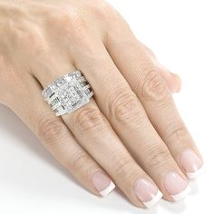 Annello 14k Gold 2 4/5ct TDW Diamond Halo Bridal Ring Set (H-I, I2-I3) | Overstock.com Shopping - Top Rated Annello Bridal Sets