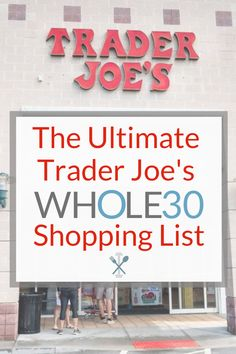 The Ultimate Trader Joe's Shopping List - hundreds of items, all dairy f. The Ultimate Trader Joe's Shopping List – hundreds of items, all dairy free, gluten fre Whole30 Shopping List, Gluten Free Shopping List, Create A Shopping List, Shopping Lists, Whole 30 Meal Plan, Whole 30 Lunch, Whole 30 Diet, Paleo Recipes Easy, Whole 30 Recipes