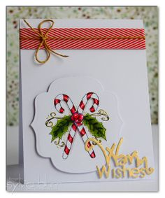 """using Whimsy Stamps """"Holiday Sentimentables"""" dies and """"Vintage Christmas"""" stamp set; card design by Sylvia Blum"""