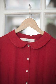 Red Dress Linen Women Fashion Hand Made Clothing от SondeflorShop