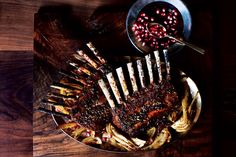 pomegranate and fennel glazed rack of lamb pomegranate and fennel ...