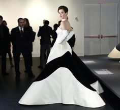 FOOTNOTES! - well, it's not as if you see a lot of heel here;) spring 2014 at the Met is about Charles James, designer in the 1940-1950's. Elettra Wiedemann is wearing his Clover Leaf dress ( replica) - Here's a Look at the ( newly renamed) Anna Wintour Costume Center's  and her First Show