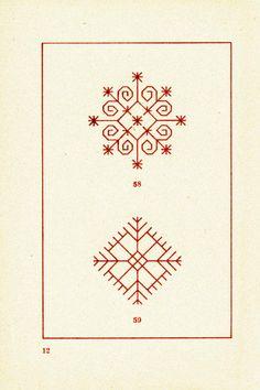 Pin by Inguna Stepia on latvju rakstu zmes t Kasuti Embroidery, Folk Embroidery, Embroidery Patterns, Blackwork, Berber Tattoo, Ancient Tattoo, Folk Art Flowers, Ethnic Patterns, Pattern Art