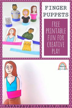 Social Emotional Learning, Social Skills, Preschool Crafts, Crafts For Kids, Easy Craft Projects, Learning Through Play, Finger Puppets, Creative Play, Pretend Play