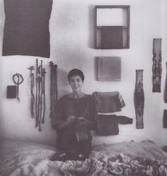 Sheila Hicks in 1964 from Weaving As Metaphor