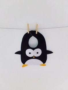 Penguin Baby slabbetje, handgemaakt, 100% katoen, meisje, jongen, baby gift, Dribbel slabbetje, accessoires, kind, dier, grappig, Baby shower, Cute