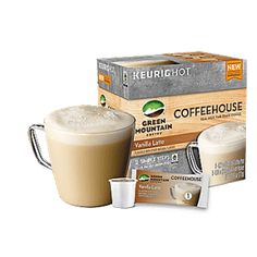 Coffeehouse Vanilla Latte Keurig K-cup Coffee Sweeps    To celebrate the arrival of Green Mountain Coffeehouse Vanilla Latte Keurig K-cup coffee we are giving away four full size boxes! Enter to win before August 30, 2016. Be your own barista with Green Mountain Coffeehouse Kcup packs! Enjoy cappuccino, latte and more at home with the push of a button. Keurig Coffeehouse Kcups combine 100% Arabica Fair Trade certified coffee with the real frosh of skim milk. Leaving you a silky >>>>>>>>>>>>