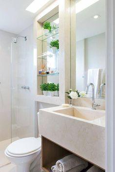 Decoração de banheiro pequeno com plantas