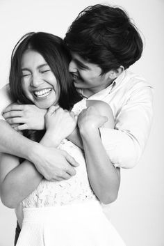 """The photography and pose!"""" One of my many favorite pics! Cute Couple Poses, Cute Couples, James Reid Wallpaper, Foto Nature, Foto Wedding, Filipina Beauty, Nadine Lustre, Partners In Crime, Celebs"""