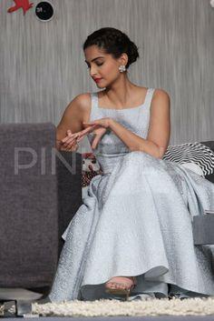 Sonam Kapoor sitting pretty in her bow dress