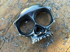 Skull Knuckle Double Rings by Ebenv on Etsy