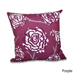 E by Design Spring Floral 2 Floral 20 x 20-inch Outdoor Pillow