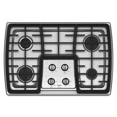 Whirlpool Gold® 30-inch Gas Cooktop with 17,000 BTU Power™ Burner (G7CG3064XS ) | Purchased with coordinating Whirlpool single wall oven WOS51EC0AS for $250.00 at the Henderson, NC Salvation Army.