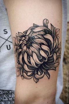 chrysanthemum tattoo - 40 Beautiful Chrysanthemum Tattoo Ideas  <3 <3